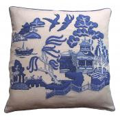 Blue Willow Pattern Cushion